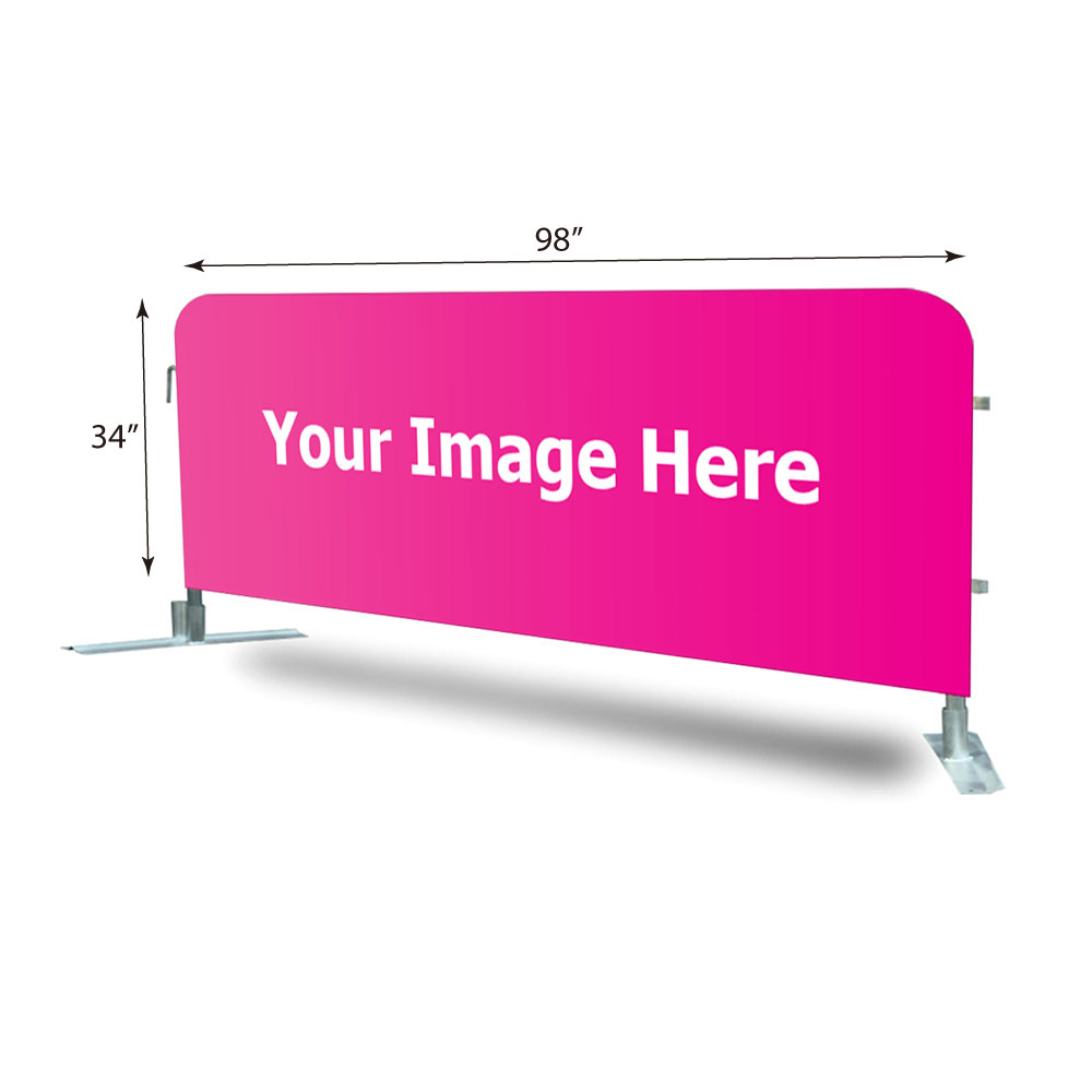 8ft Crowd Barrier Covers