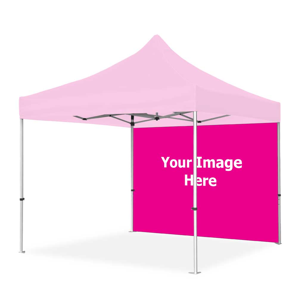 10x10 Pop Up Tent - Back Wall Only (1-Sided Print)