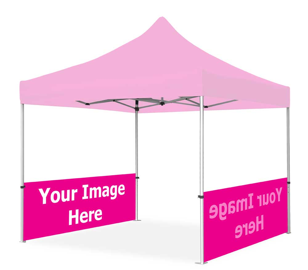 10' Pop Up Tent Half Wall Set Only (1-Sided Print)