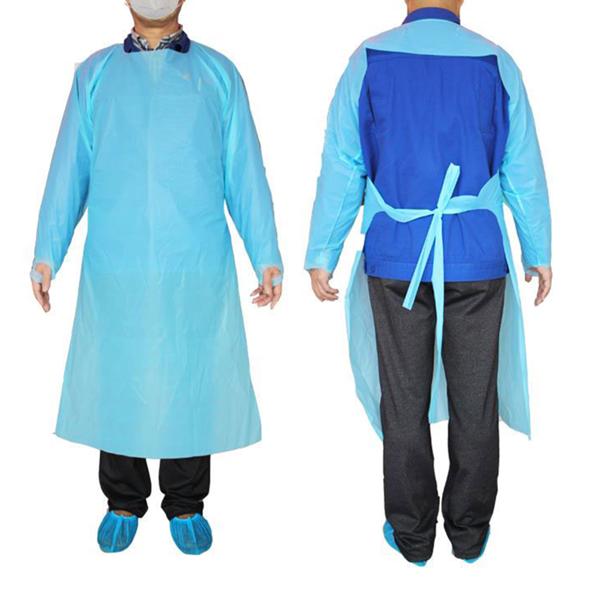 Medical Isolation Gown - Open Back (Impermeable Polypropylene)